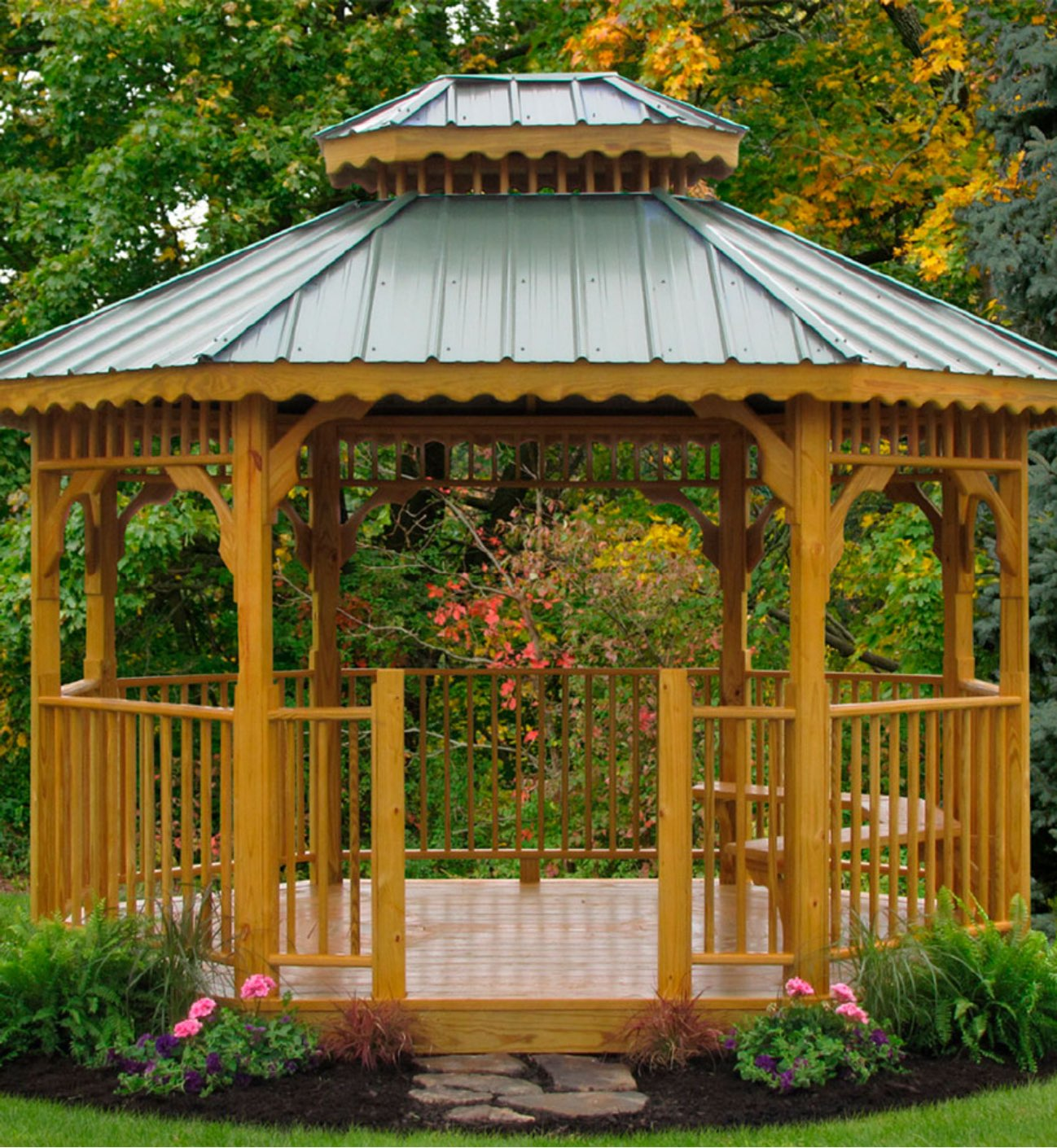 Kauffman S Wood Gazebos Premium Natural Wood Backyard