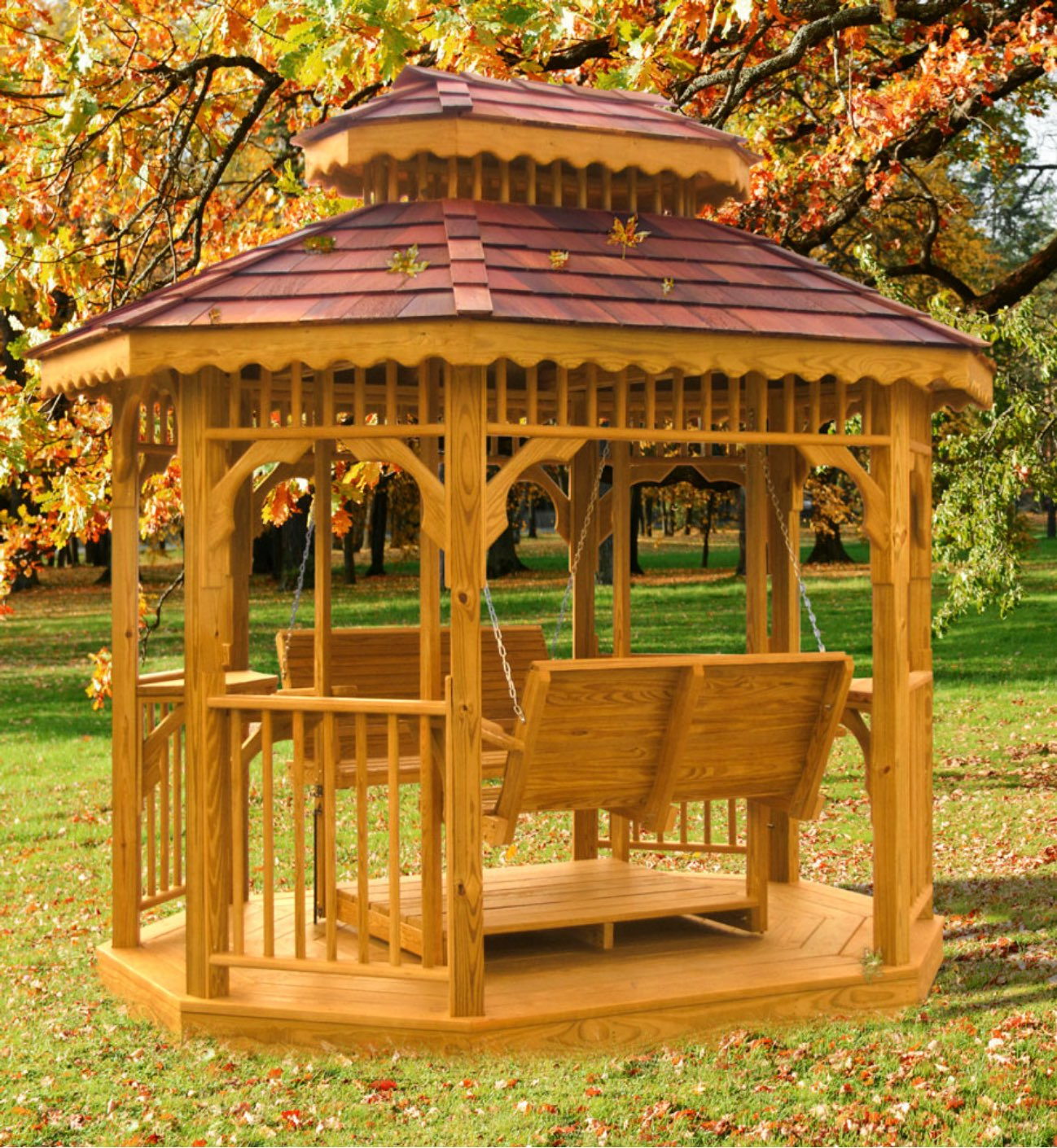 7' x 9' Deluxe Glider Teahouse